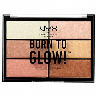 Палетка хайлайтеров для лица `NYX PROFESSIONAL MAKEUP` BORN TO GLOW